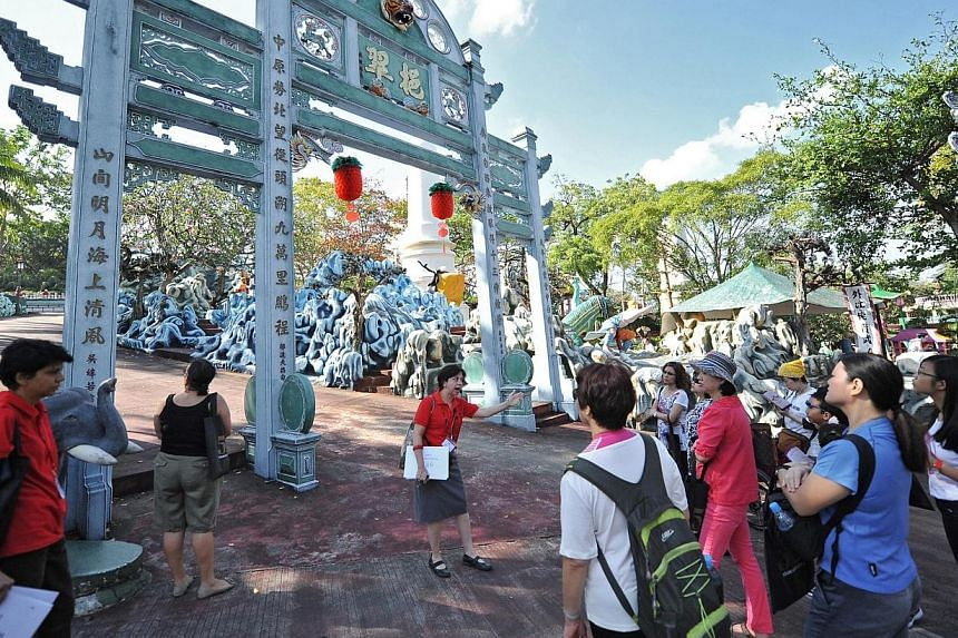 A tourism event at Haw Par Villa has breathed new life into the old attraction, bringing in more than 12,000 people over the last two weekends.-- ST PHOTO: MATTHIAS HO