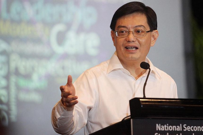 Minister of Education Heng Swee Keat addressing 250 student leaders from 136 secondary schools at the first National Secondary School Student Leaders Conference at *scape in 2012. Remember to be proud of yourself, your school and your students, Educa