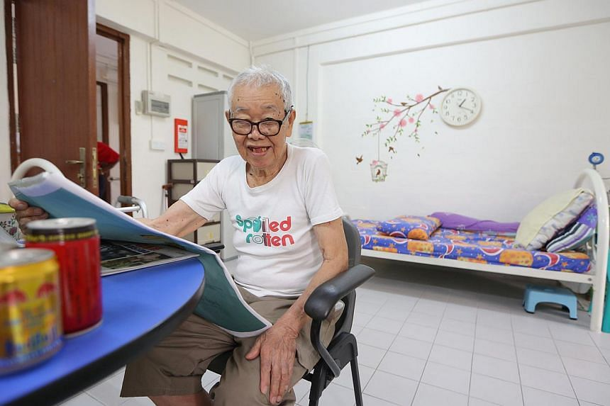 Mr Wong Kam Siam, who lives at the Asian Women's Welfare Association community home in Ang Mo Kio, gets more say over what he likes to do - usually reading the newspapers - instead of having to join in mass activities.