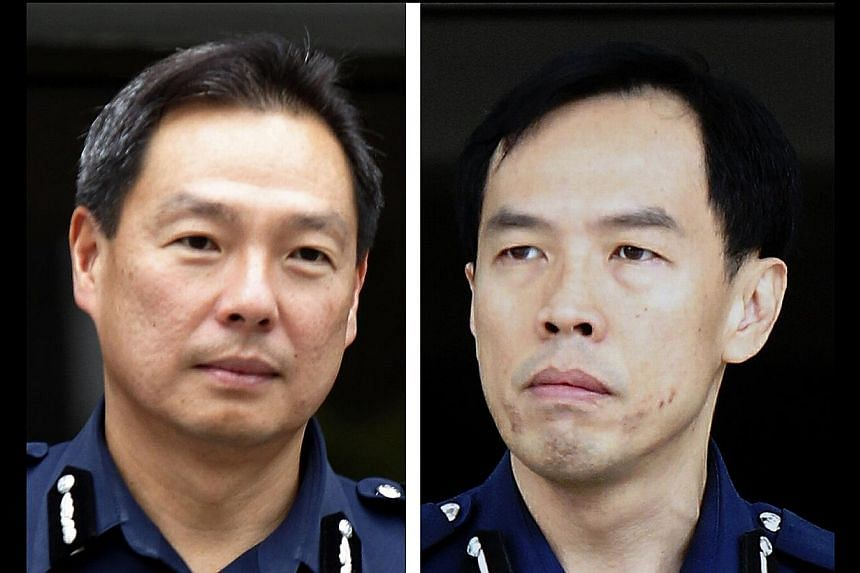 Commissioner of Police Ng Joo Hee (left) says that the ground commander, Deputy Assistant Commissioner Lu Yeow Lim (right), did the right and sensible thing in deciding to hold his position when he was greatly outnumbered.