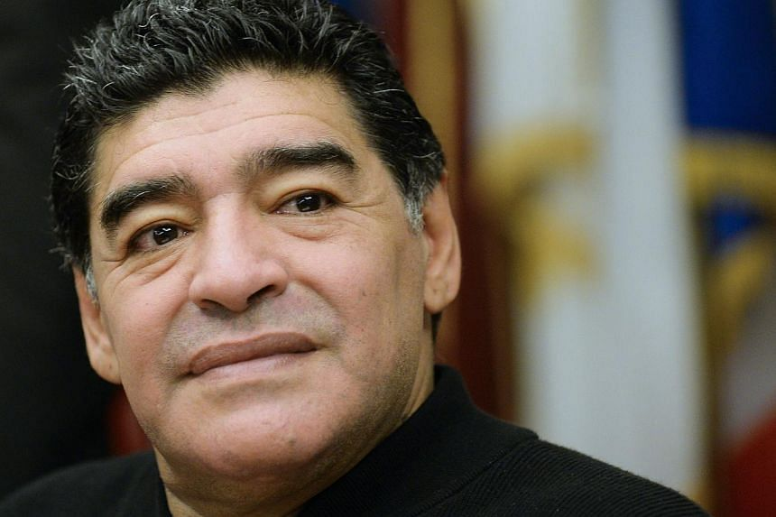 """Football legend Diego Maradona has slammed the Argentine Football Association by accusing those in charge of """"understanding as much about football as Pakistan does"""".-- FILE PHOTO: AFP"""