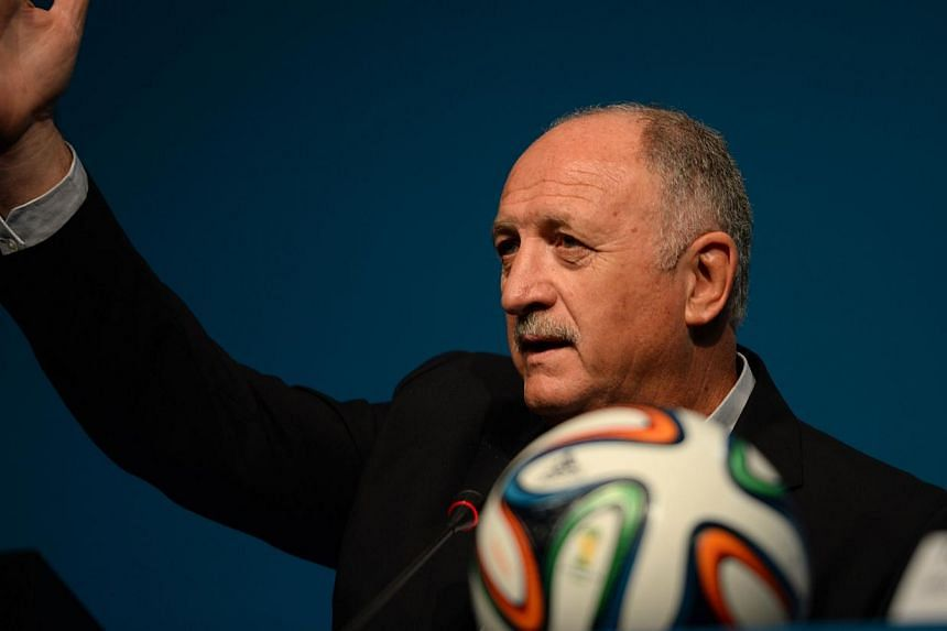 Brazilian national coach Luiz Felipe Scolari speaks during a Fifa workshop in Brazil for coaches and representatives of the World Cup's 32 participating teams. Brazil unveiled on Wednesday the state-of-the-art training centre it will use during this