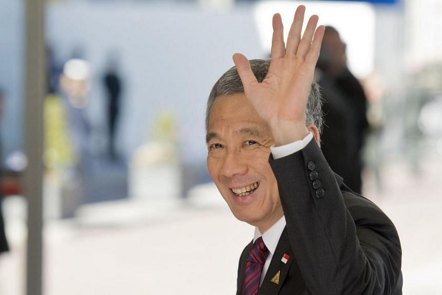 Singapore's Prime Minister Lee Hsien Loong arrives at The World Forum in The Hague on March 24, 2014 on the first day of the two-day Nuclear Security Summit (NSS). Singapore is keen on an open skies agreement with the European Union to foster greater