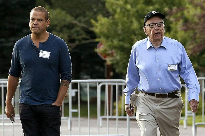 Lachlan Murdoch, 42, will become non-executive co-chairman of both entertainment company 21st Century Fox and publishing operation News Corp, sharing both roles with his father Rupert Murdoch. -- FILE PHOTO: REUTERS