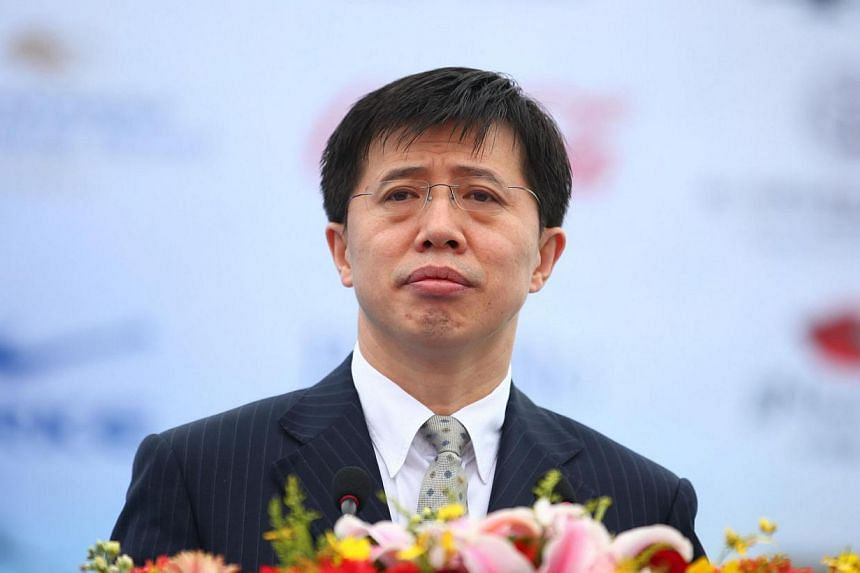 Ji Wenlin, the then mayor of Haikou, delivering a speech during the 2011 Hainan Ocean Race in Haikou, south China's Hainan province, on March 20, 2011. Ji, a former aide to China's retired domestic security chief Zhou Yongkang, was sacked on Th