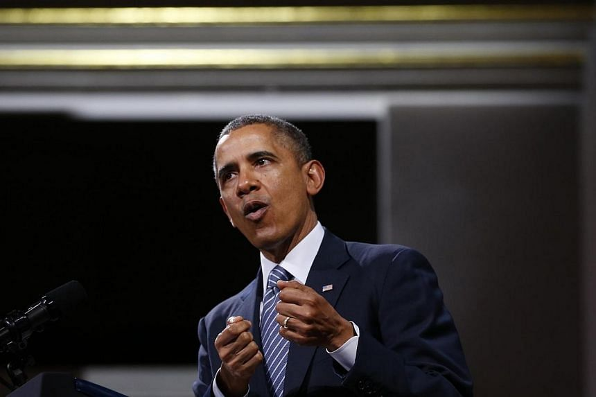 US President Barack Obama said on Thursday, March 27, 2014, that the US government will end its bulk collection of Americans' telephone records, aiming to defuse a controversy over mass surveillance. -- PHOTO: REUTERS