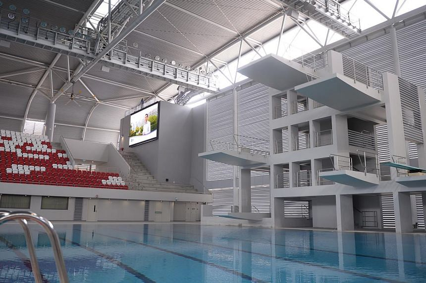 The OCBC Aquatic Centre at the Singapore Sports Hub pictured on March 27, 2014. -- PHOTO: MARK CHEONG
