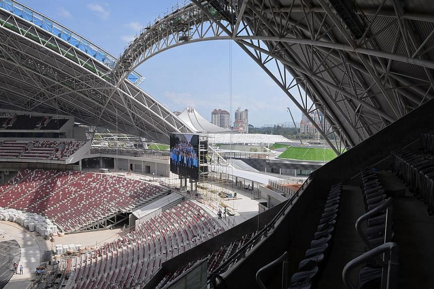 The stadium at the Singapore Sports Hub pictured on March 27, 2014. -- PHOTO: MARK CHEONG