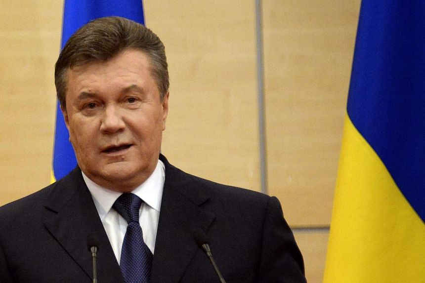 Deposed Ukraine president Viktor Yanukovych on Friday, March 28, 2014, called for nationwide referendums to be held across the country to determine the future status of every Ukrainian region. -- FILE PHOTO: AFP
