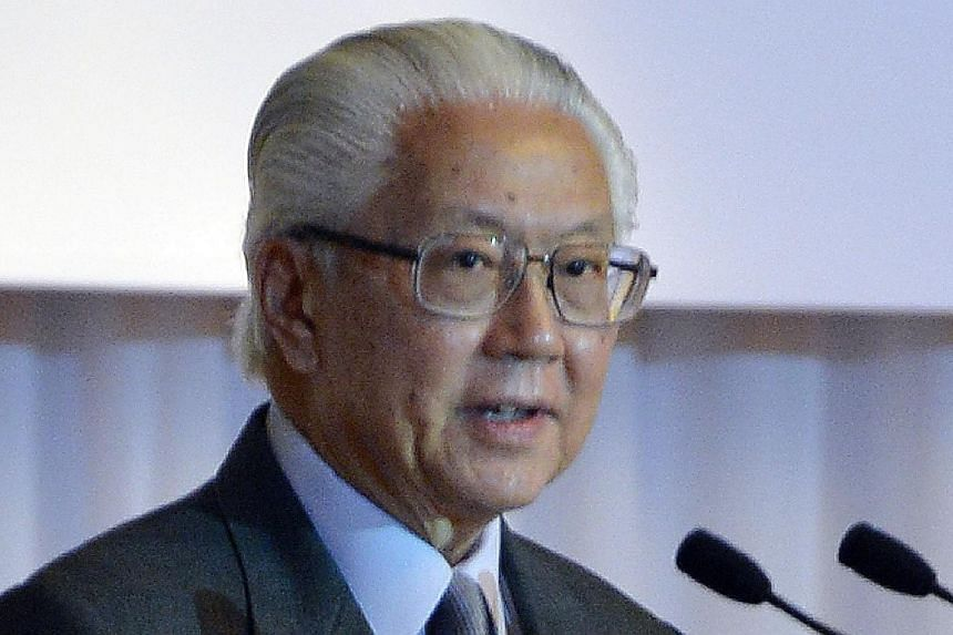 President Tony Tan Keng Yam making a speech to close a series of lectures on leadership organised by his alma mater St Joseph's Institution (SJI) and The Fullerton Hotel Singapore held on Nov 5, 2013. Mr Tan is to make his first state visit to meet