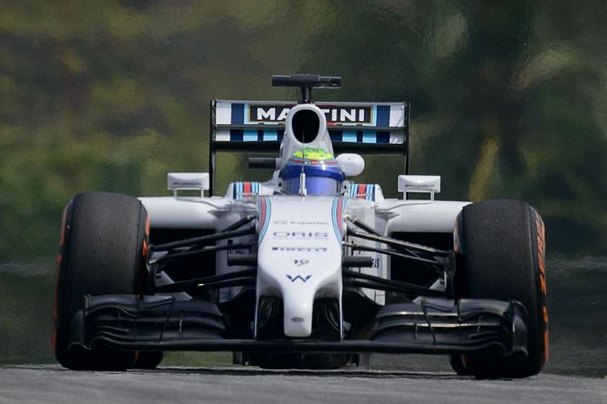 Williams driver Felipe Massa of Brazil takes part in the first practice session of the Formula One Malaysian Grand Prix at the Sepang circuit near Kuala Lumpur on March 28, 2014. -- PHOTO: AFP