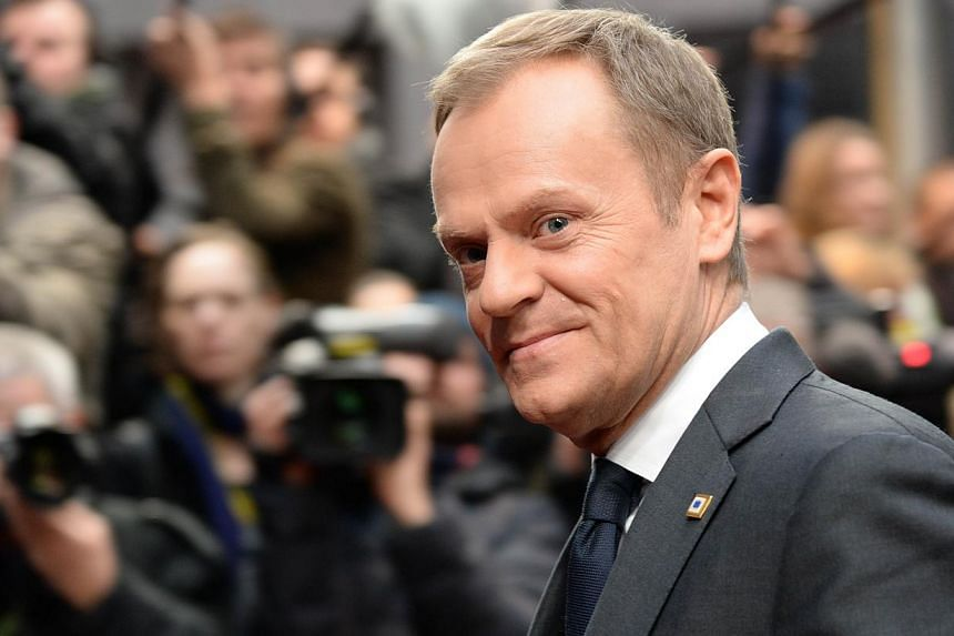 Polish Prime Minister Donald Tusk said on Saturday, March 29, 2014, the European Union should form an energy union to bolster its energy security and lessen its dependence on key gas supplier Russia whose annexation of Crimea has caused a tense stand