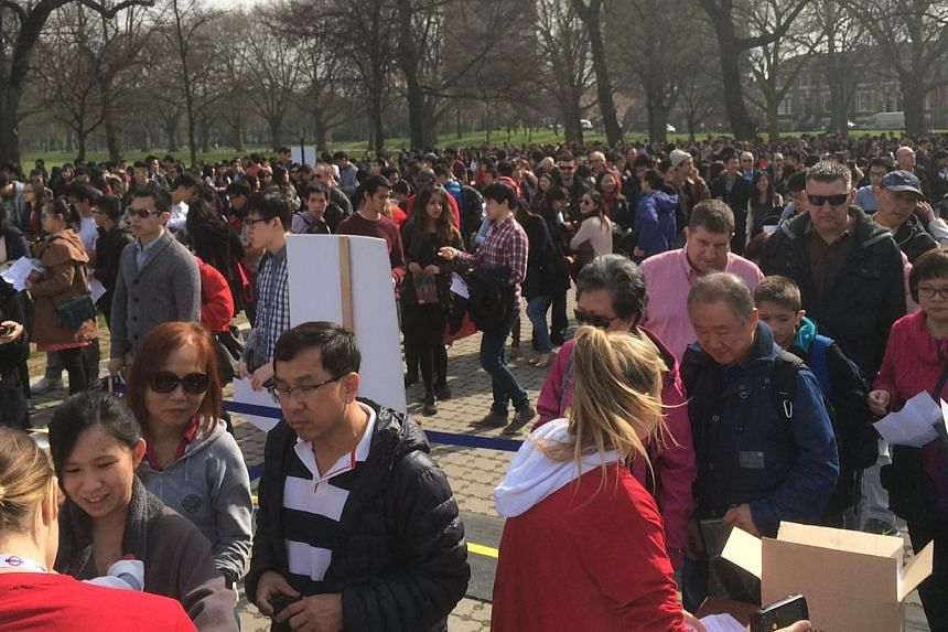 Singapore Day was held at Victoria Park in London on Saturday.-- ST PHOTO:STEPHANIE YEOW