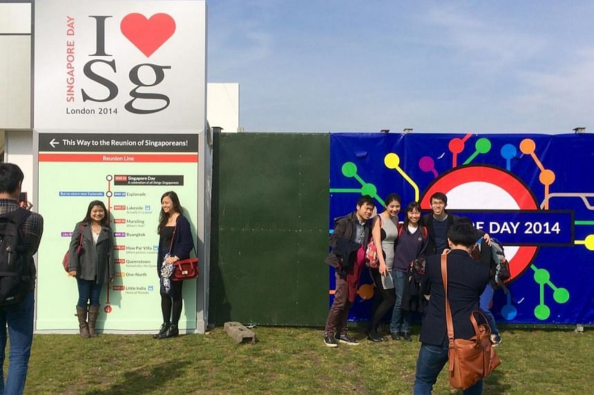 Singapore Day was held at Victoria Park in London on Saturday. -- ST PHOTO: STEPHANIE YEOW