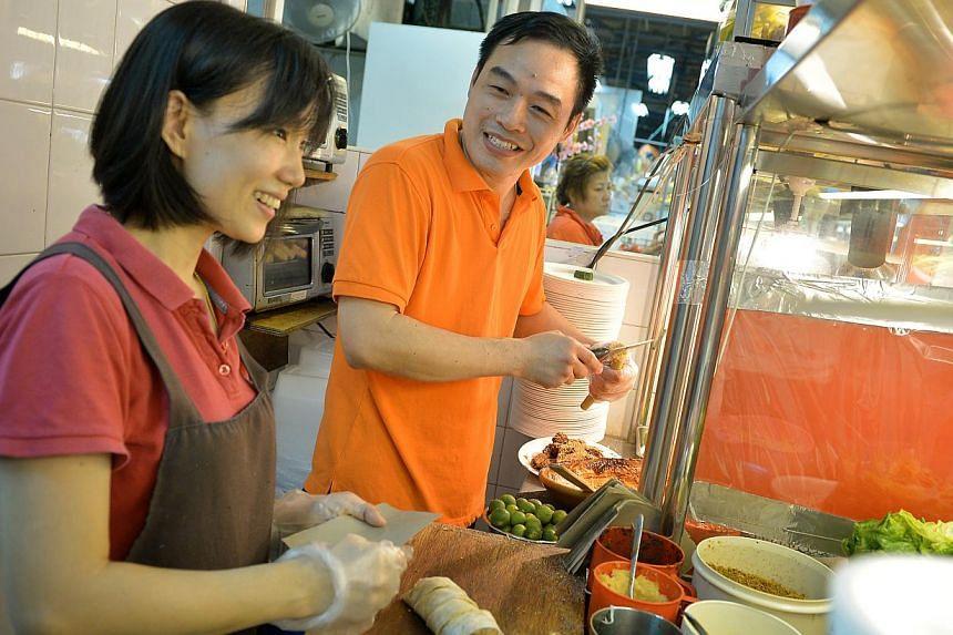 Te Wei Popiah & Rojak. -- ST PHOTO: KUA CHEE SIONG