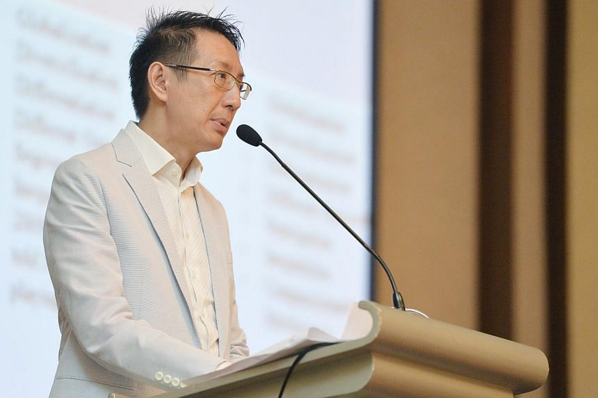 """""""It seems to me that instead of having a meritocracy, increasingly what we have in Singapore is a parentocracy,"""" Associate Professor Jason Tan said at an Association of Muslim Professionals (AMP) seminar on education. -- PHOTO: LIM YAOHUI FOR THE STR"""