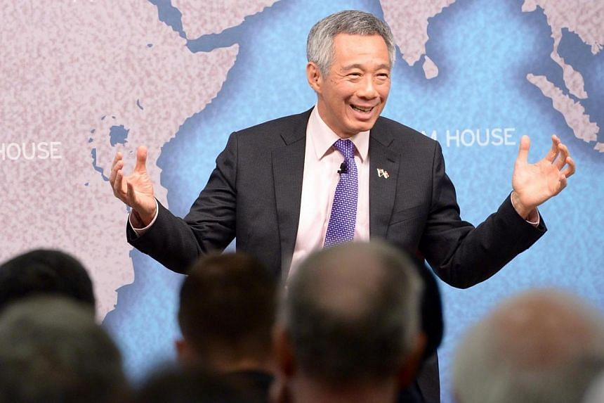 """Singapore's Prime Minister Lee Hsien Loong held a dialogue at London's Chatham House, speaking on the topic """"Singapore's Perspectives on Asia and Europe"""" on Friday, March 28, 2014. In the wake of the recently-announced Pioneer Generation Package, Pri"""
