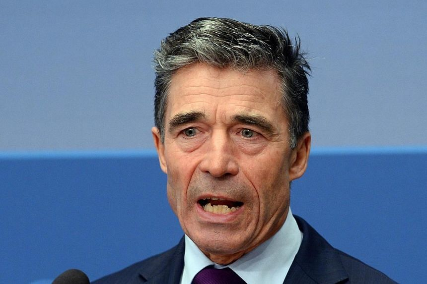 Nato chief Anders Fogh Rasmussen said on Sunday, March 30, 2014, that the Ukraine crisis underscored the need to protect the right of nations to map out their own future. -- FILE PHOTO: AFP