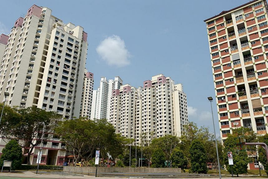 About 800,000 Singaporean households living in Housing Board flats will get $45 million in utilities rebates in April. -- ST FILE PHOTO: JAMIE KOH