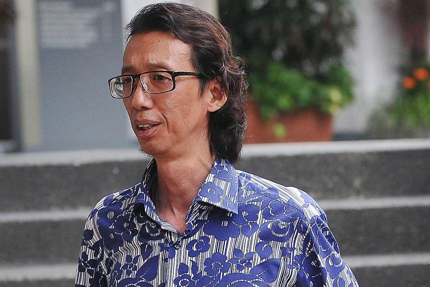 Mr Nguyen Van On at the Subordinate Court on April 16, 2012. -- NP FILE PHOTO: NG JUN SEN