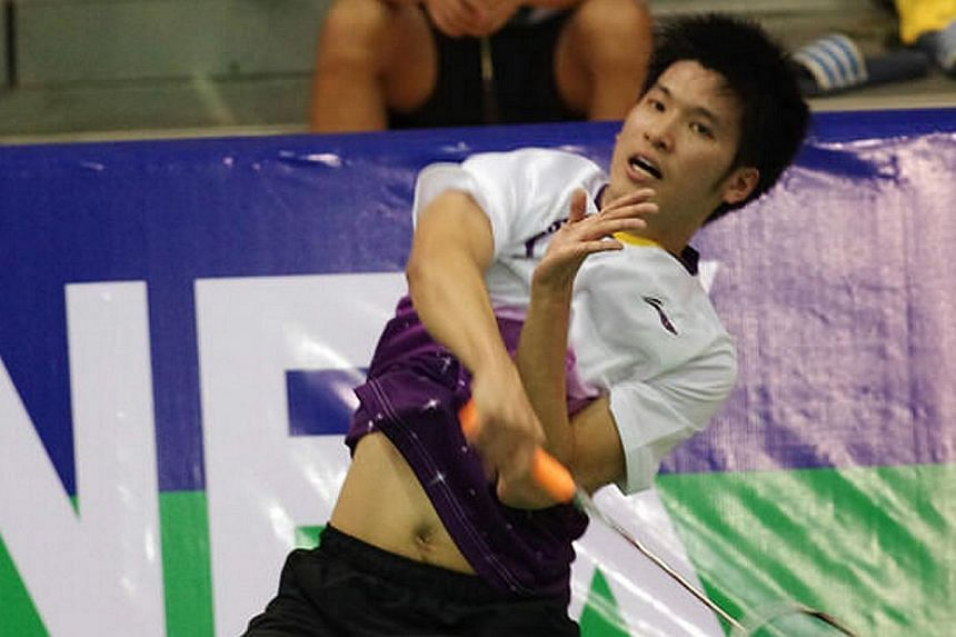 Badminton player Derek Wong.Singapore's national men's badminton team have qualified for the Thomas Cup finals, the first time since 1986 that the Republic has gained entry to the prestigious event. -- PHOTO:SINGAPORE SPORTS COUNCIL