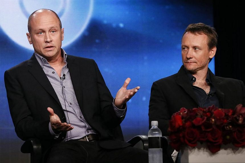 Creator, executive producer, director and writer Mike Judge and executive producer, director, writer Alec Berg talk about HBO's Silicon Valley during the Winter 2014 TCA presentations in Pasadena, California, on Jan 9, 2014. -- FILE PHOTO: REUTERS