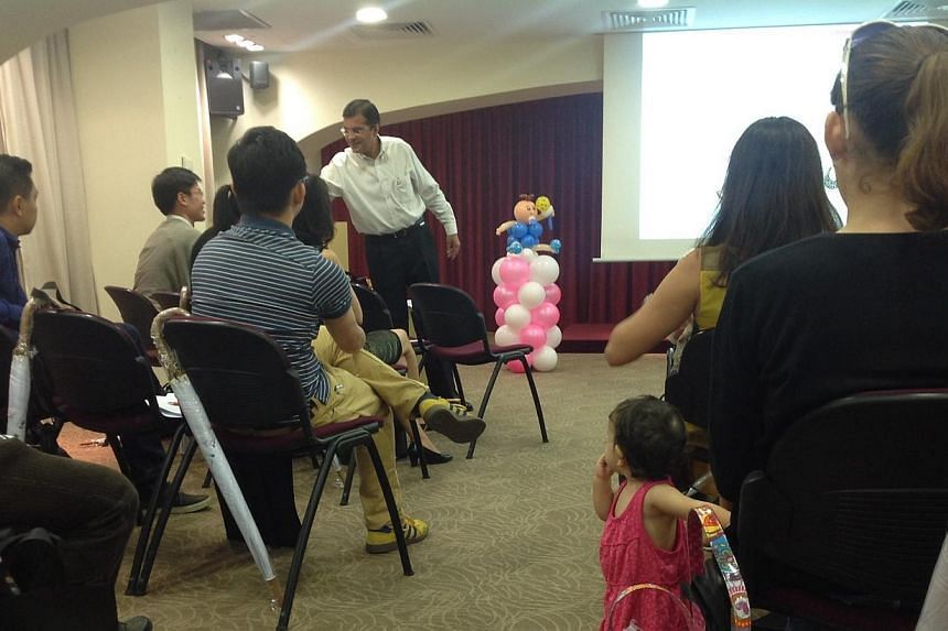 Focus group for the Jubilee Baby Gift.-- ST PHOTO: GOH CHIN LIAN