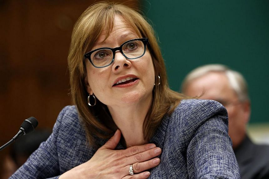 GM Chief Executive Officer Mary Barra testifies during a House Energy and Commerce hearing on Capitol Hill in Washington on April 1, 2014. -- PHOTO: REUTERS