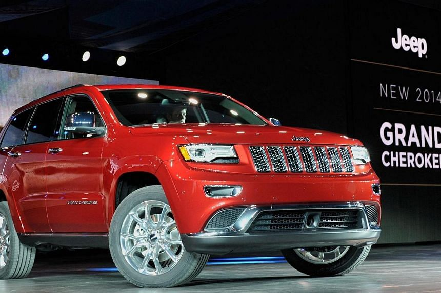 The 2014 Jeep Grand Cherokee is introduced at the North American International Auto Show in Detroit, Michigan in this photo from Jan 14, 2013. Chrysler said Wednesday, April 2, 2014, it was recalling almost 868,000 sport-utility vehicles worldwi