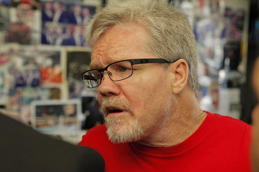 Manny Pacquiao's trainer Freddie Roach at his Wild Card Boxing Gym on April 2, 2014. -- PHOTO: AFP