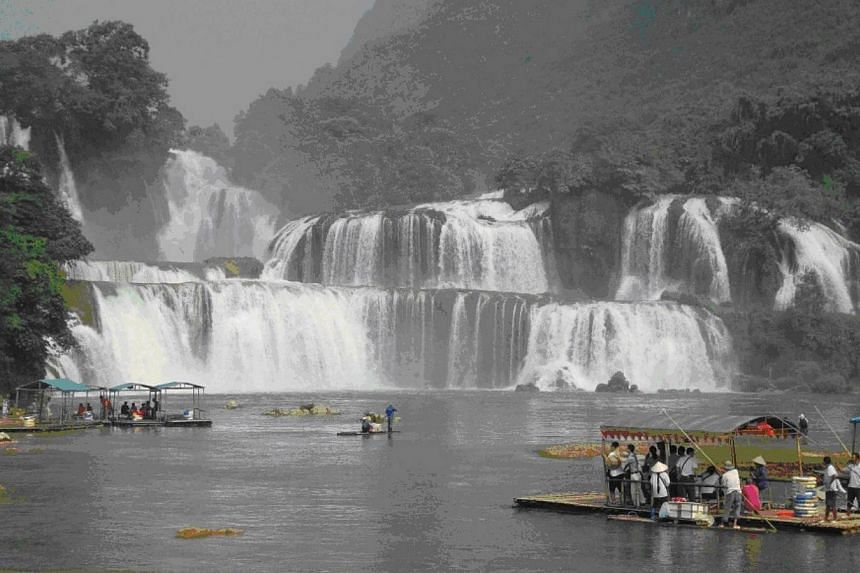 Ban Gioc Waterfall, a stunning, must-see site located in the north of Vietnam.-- PHOTO: VIETJET