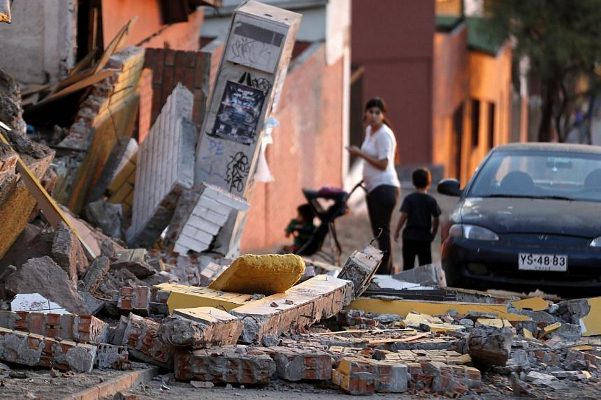 The aftermath of an earthquake that hit the northern port of Iquique, Chile, on April 2, 2014. -- PHOTO: REUTERS
