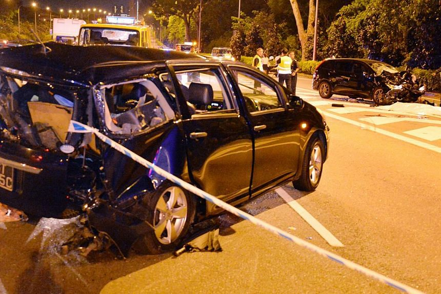 The scene of the accident at the Central Expressway (CTE) in August 2013 that killed South Korean Jamie Song Jisoo, her parents and her Singaporean boyfriend Amron Ayoub.--FILE PHOTO: SHIN MIN