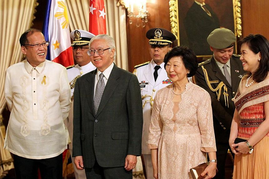 """The Philippines on Thursday proposes a """"defence dialogue"""" with Singapore during the state visit of Singapore President Tony Tan Keng Yam. -- COPYRIGHT: SPH"""
