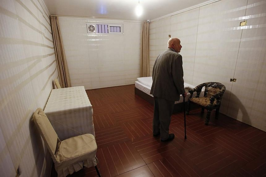 On display at Wednesday's media preview was the installation 81. It is a replica of the prison cell where Ai was held in detention for 81days in 2011, and features a narrow single bed, two chairs, a desk, a wardrobe, walls lin