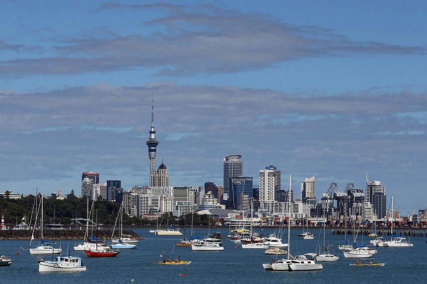 The Auckland, New Zealand, skyline. New Zealand received high scores for personal rights and freedom, internet access and school enrolment. -- FILE PHOTO: AFP