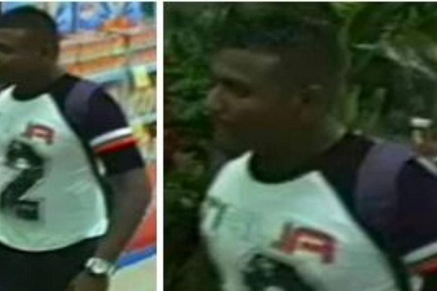 Police are looking for a man who they believe can assist with investigations into a theft at a shopping centre. -- PHOTO: SINGAPORE POLICE FORCE