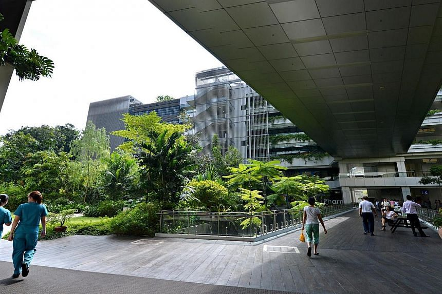 The exterior of Khoo Teck Puat Hospital (KTPH), Singapore's newest and only hospital serving residents in the north. -- ST FILE PHOTO: NURIA LING