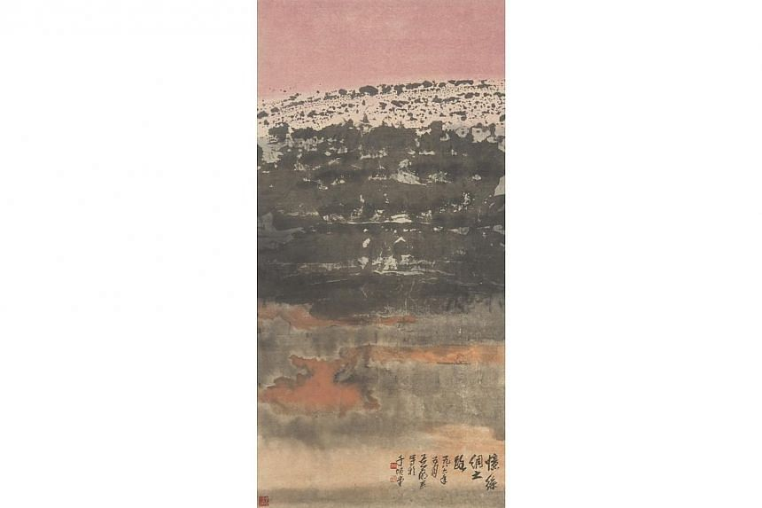 Silk Road by Wee Beng Chong. 1986. Chinese ink and colour on paper, 121 x 61 cm. Gift of DBS Bank Ltd.-- PHOTO: NATIONAL COLLECTION, SINGAPORE