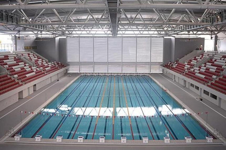 The OCBC Aquatic Centre at the Singapore Sports Hub pictured on 27 March, 2014. -- ST FILE PHOTO: MARK CHEONG