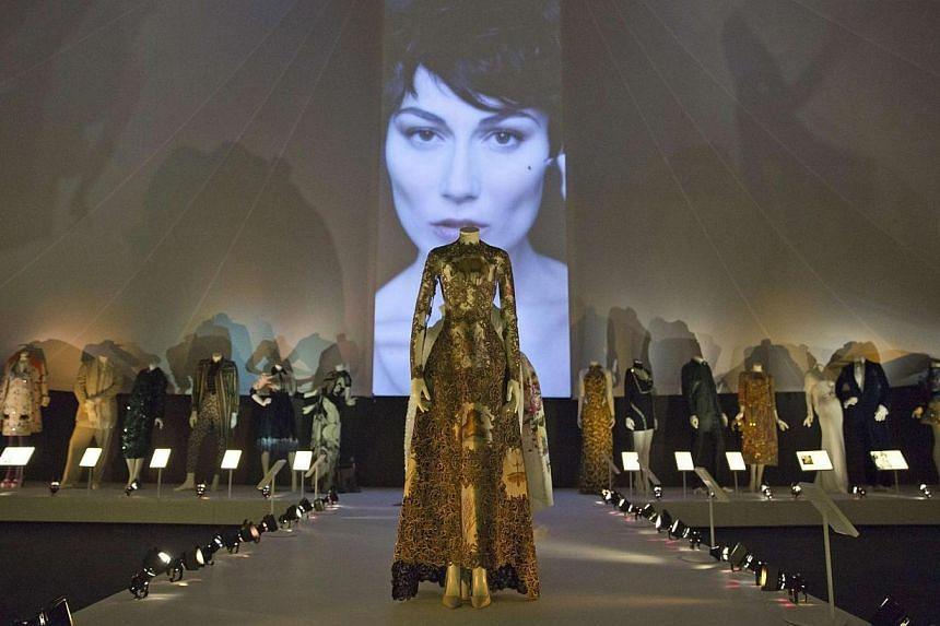 Italian dresses at the exhibition.-- PHOTO: REUTERS