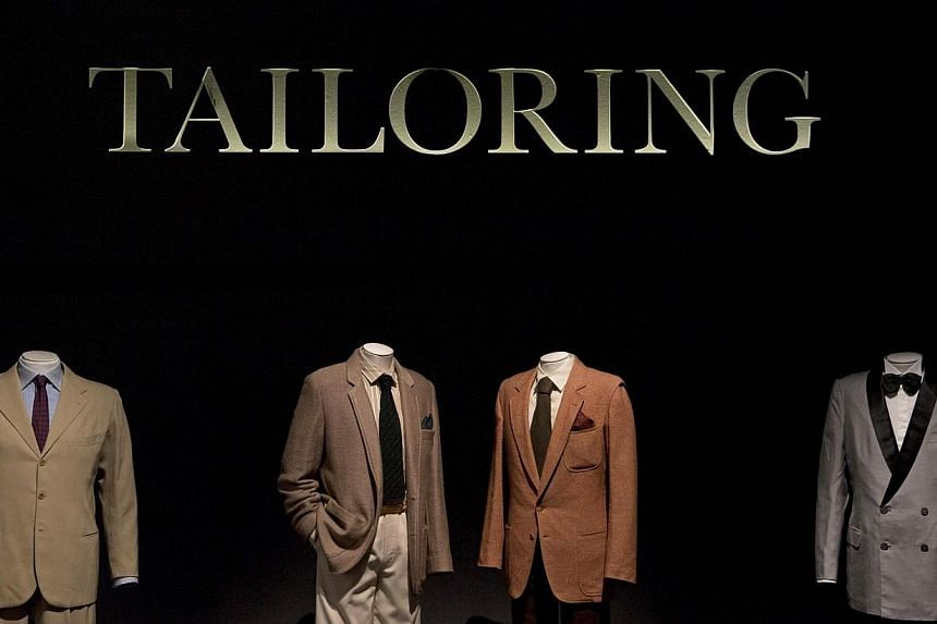 Italian tailoring at the exhibition. -- PHOTO: REUTERS