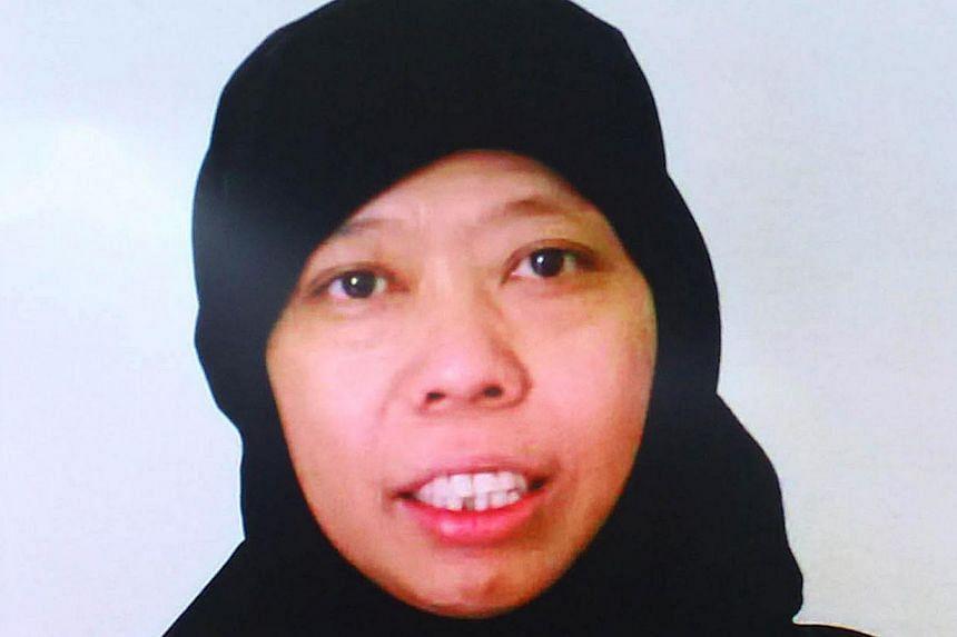 Picture of Indonesian maid Satinah Binti Jumadi Ahmad who is on death row for killing her employer in Saudi Arabia. -- PHOTO: AFP