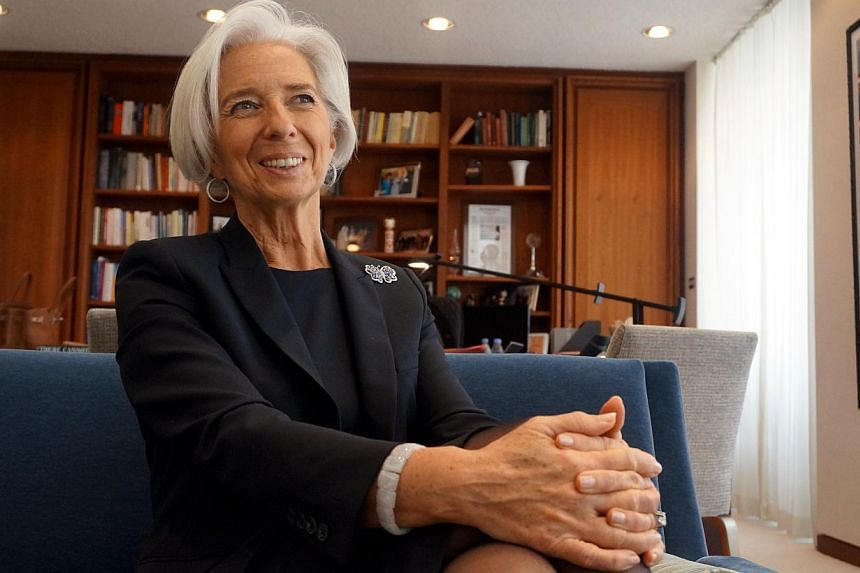 IMF managing director Christine Lagarde during an interview with The Straits Times at her office in Washington, DC on April 2, 2014 -- ST PHOTO: MELISSA SIM
