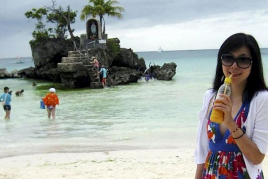 Ms Gao Hua Yuan, a tourist from China, was one of two people kidnapped after seven gunmen stormed the Singamata Reef Resort near the town of Semporna on Borneo island in the state of Sabah on 2 April 2014. -- PHOTO: THE STAR