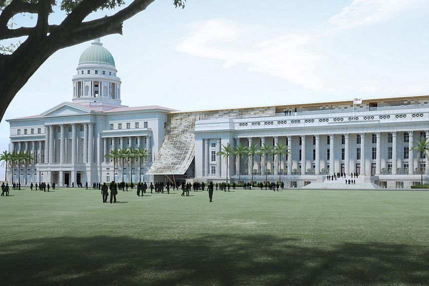 An artist's impression of National Gallery Singapore. -- PHOTO:©STUDIOMILOU SINGAPORE 2013/NATIONAL GALLERY SINGAPORE