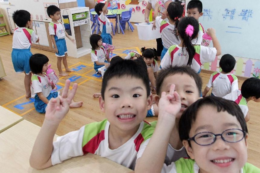 K1 students from MY World @ Simei centre. -- PHOTO: NEO XIAOBIN
