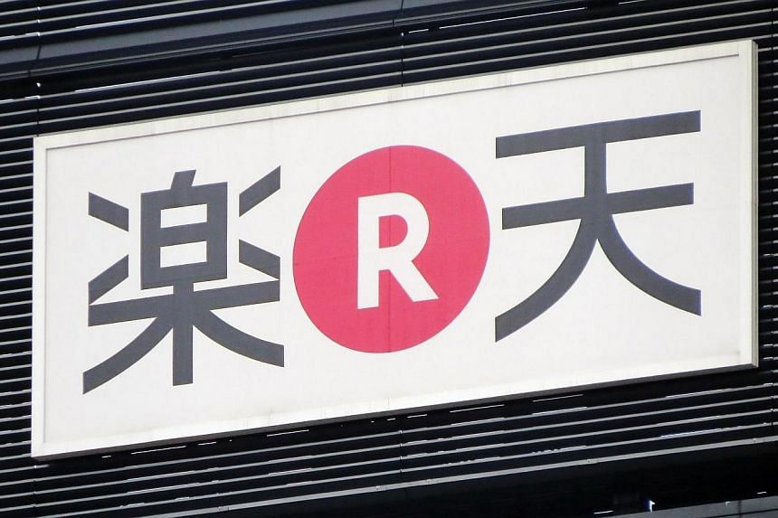 The logo of Japan's electronic commerce and Internet company Rakuten is seen in Tokyo on March 18, 2014.Japanese e-commerce giant Rakuten said on Friday, April 4, 2014, it has told online retailers to stop selling whale meat after a UN court or
