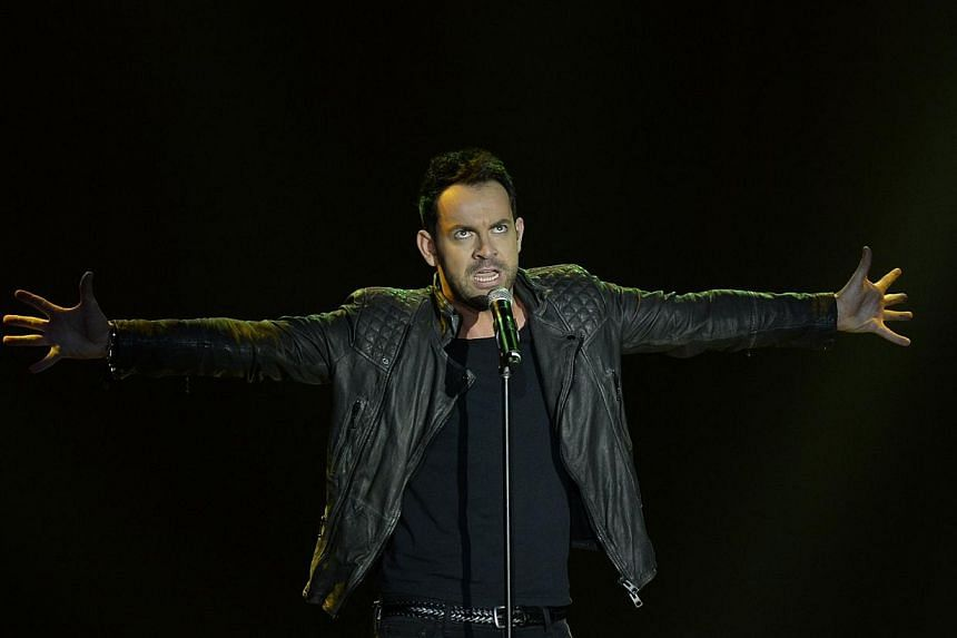Ben Forster performs onstage during the press conference for the Jesus Christ Superstar arena tour on April 4, 2014 in New York City. The 54-city tour kicks off June 9 in New Orleans. -- PHOTO: AFP