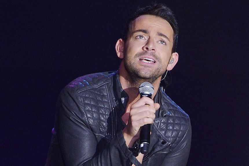 Ben Forster performs at the press conference for the Jesus Christ Superstar arena tour on April 4, 2014 in New York City. -- PHOTO: AFP